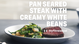 Pan Seared Steak with Creamy White Beans