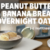 Peanut Butter Banana Bread Overnight Oats