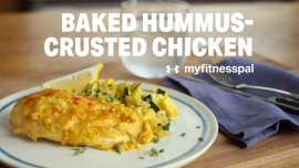 Baked Hummus-Crusted Chicken