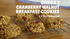 Omega 3 Cranberry Walnut Breakfast Cookies