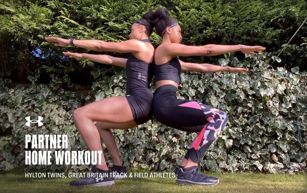Partner Home Workout with The Hylton Twins